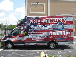 Free Moving Truck Rentals Available American Self Storage Communities Fairview Facility