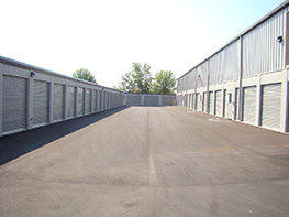 Outdoor storage units at American Self Storage Communities