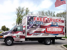 Free Moving Truck Rentals Available American Self Storage Communities Greenwood Facility